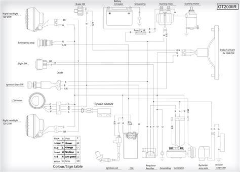 hammerhead 150 wiring diagram get free image