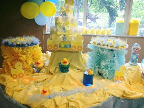 rubber duck baby shower decorations rubber ducky baby shower ideas photo 21 of 22