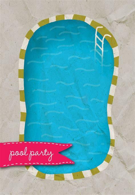 pool party birthday invitations free birthday invitation pool party
