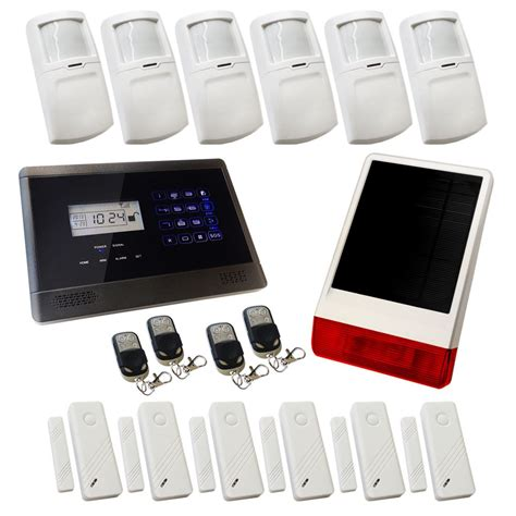 house alarm sentry pro wireless gsm auto dial house alarm solution 4 solar