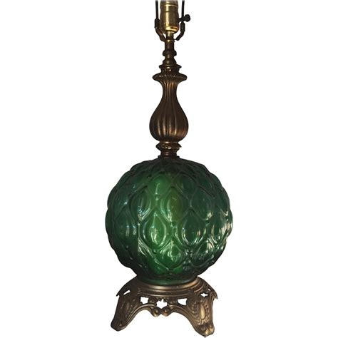 Vintage Green Glass Table L Chairish