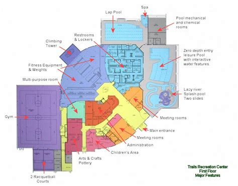recreation center floor plans recreation center drawings