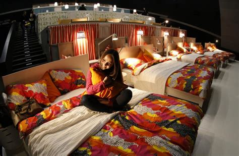 bed cinemas ikea transforms a moscow movie theatre into a cozy bed