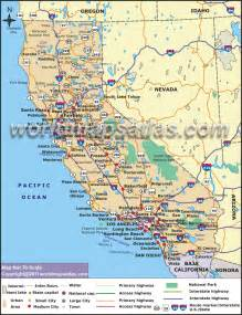 pin california road map ca highway on