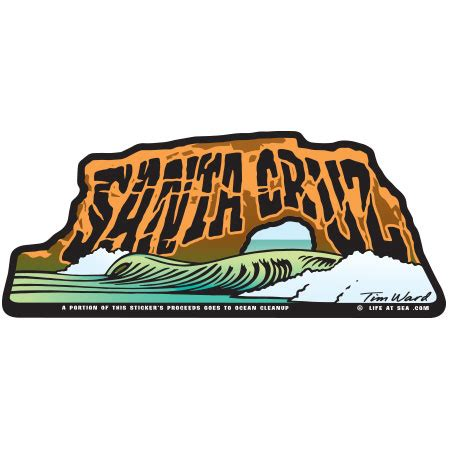 Sticker Plat California Santa decal bridges santa sticker by tim ward