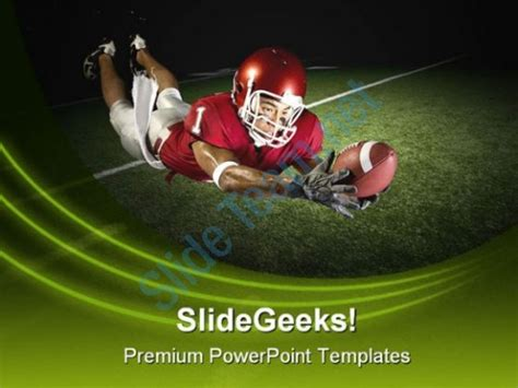 Football Victory Catch Sports Powerpoint Template 1110 Football Powerpoint Slides