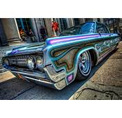 Amazing Blue Flamed Lowrider  Just Airbrush