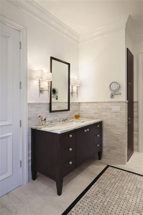Hall Bathroom Tile Colors Sconces Around The House