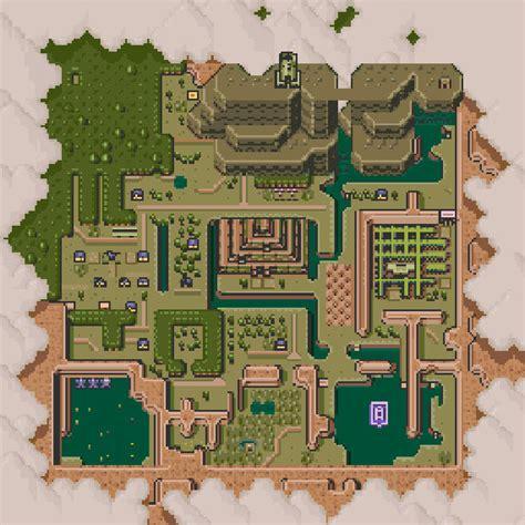 legend of zelda map cross stitch hyrule dark world map cross stitch pattern