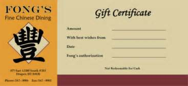 restaurant gift certificate template free 18 restaurant gift certificate templates free sle