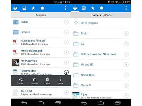 dropbox for android dropbox app for android and ios updated with visual tweaks