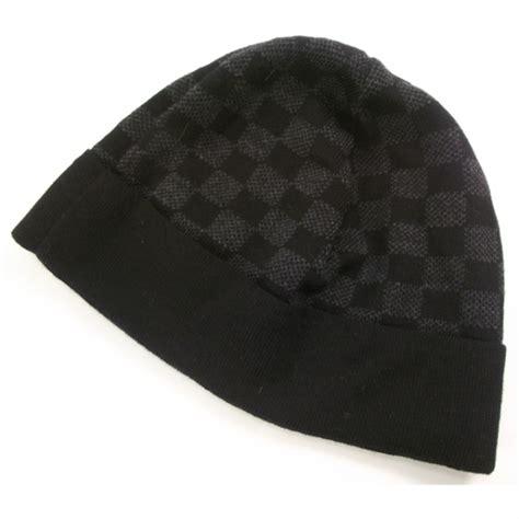 louis vuitton wool bonnet petit damier beanie hat 20443