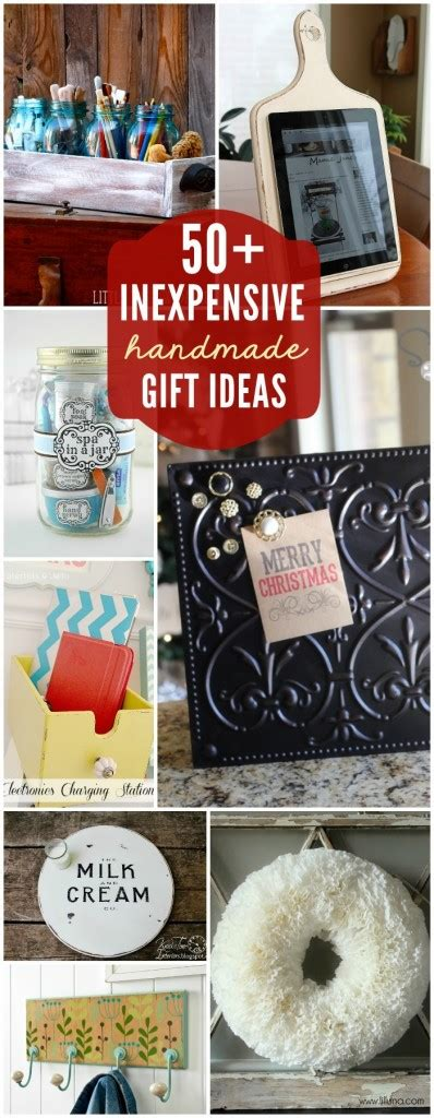 Cheap Handmade Gifts - 50 inexpensive gift ideas
