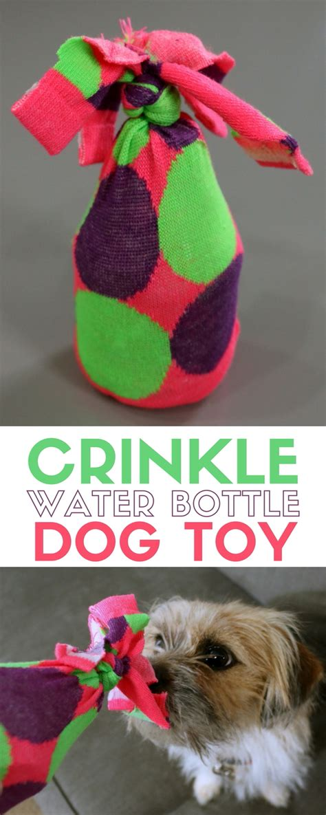how to keep dog toys from going under the couch how to make a water bottle crinkle dog toy the crafty