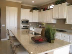 white kitchen beige countertop white cabinets beige walls light countertops kitchen