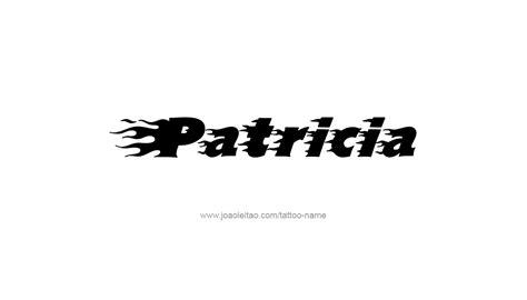 patricia tattoo designs name designs