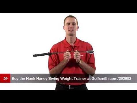 hank haney swing trainer hank haney swing weight trainer review youtube