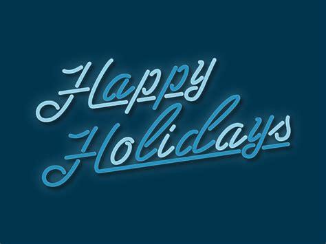 happy holidays neon sign  justin wilson  dribbble
