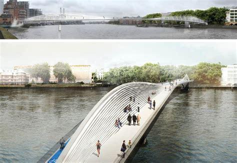 design competition bridge new bike and pedestrian thames bridge designs in