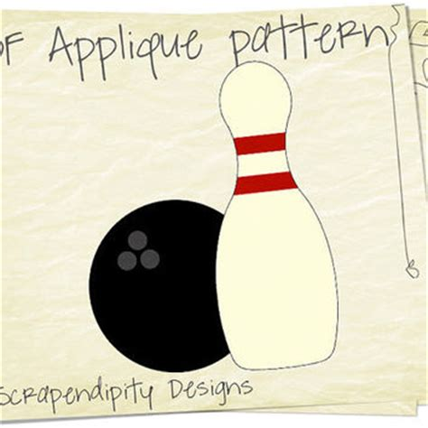 Bowling Applique Template Sports From Scrapendipitydesigns On Bowling Shirt Design Template