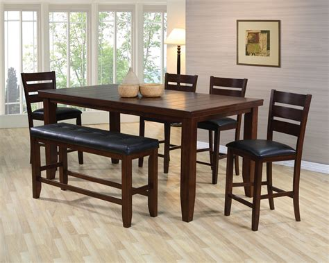 dining set with benches bardstown counter height dining room set dining room sets
