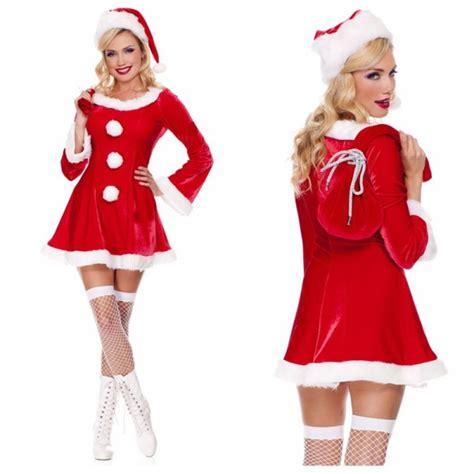 santa claus costumes  womens merry christmas