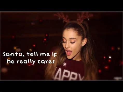 ariana grande santa tell me [lyrics] youtube