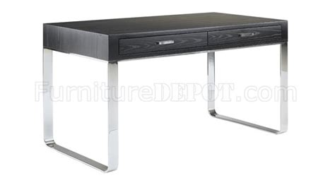 wenge finish contemporary office desk with metal legs