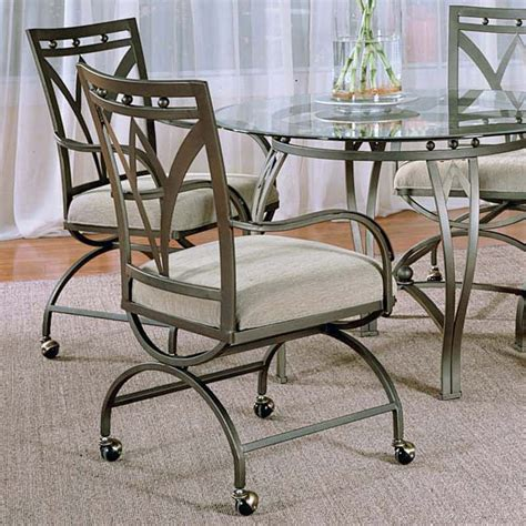 steve silver madrid arm dining chairs with casters set