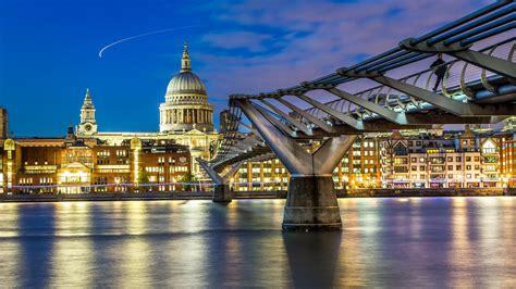 millennium bridge london uk  london millennium