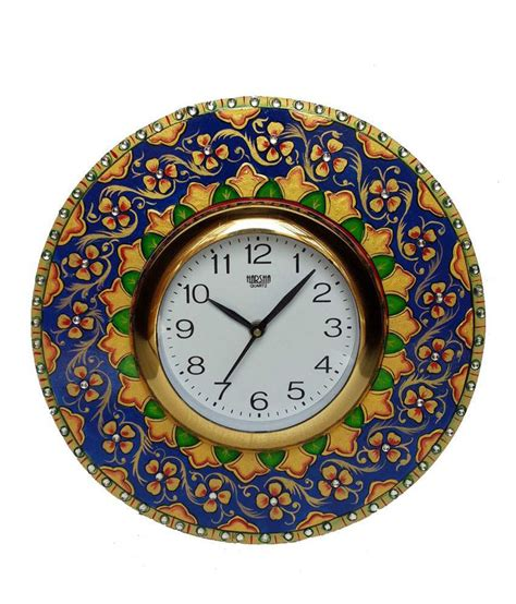 Handcrafted Wall Clocks - divinecrafts multicolor handcrafted wall clock buy