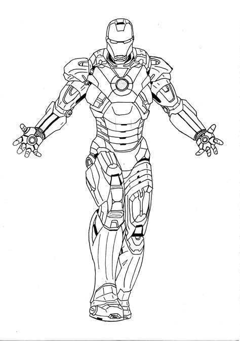 iron man mark 6 coloring pages iron man mark vii by l cardoso on deviantart