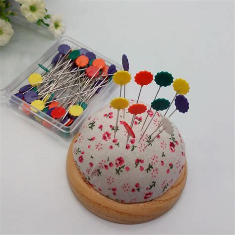 Patchwork Accessories - 50pcs sewing accessories patchwork pins flower sewing pin