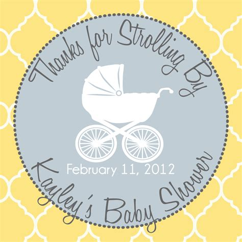free printable baby shower favor tags template 6 best images of printable baby shower favor labels free