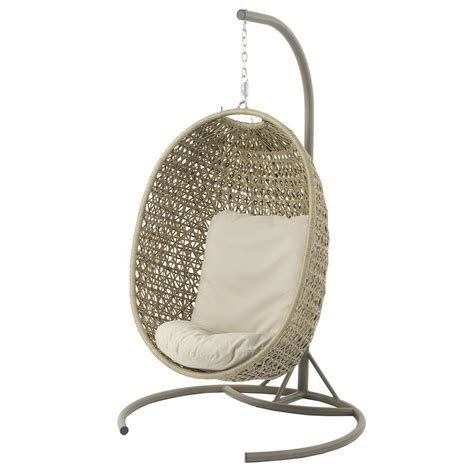the swing chair bramblecrest oakridge single cocoon garden swing chair