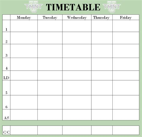pin blank school timetable on pinterest