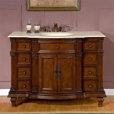 shop silkroad exclusive esther 48 in walnut undermount