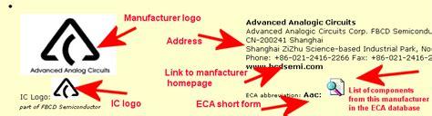 integrated circuit manufacturers logo ic logo collection eca electronic