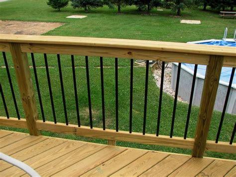 deckorators railing and accessories black aluminum