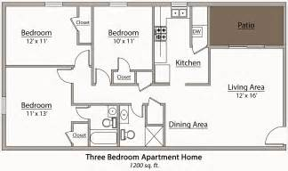 3 bedroom floor plan 26 decorative 3 bedroom apartment plan house plans 87223