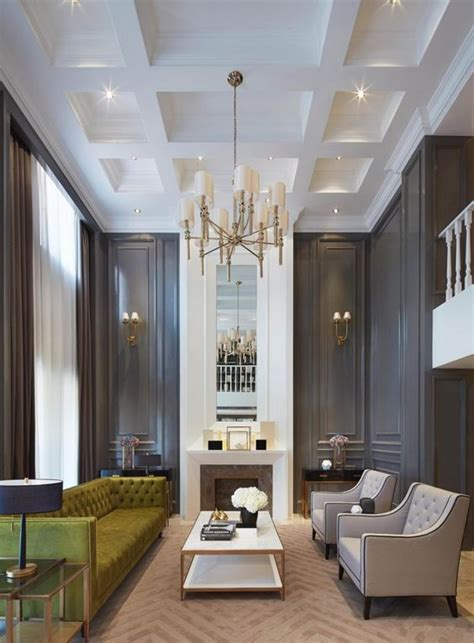 Gorgeous Dark Walls And High Ceilings With Minimal But Traditional Statement Furniture Pieces | gorgeous dark walls and high ceilings with minimal but