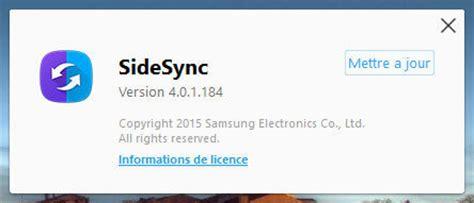 samsung sidesync 3 0 apk sidesync samsung android logiciels fr