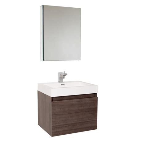 Bathroom Vanities And Medicine Cabinets 23 5 Inch Gray Oak Modern Bathroom Vanity With Medicine Cabinet Uvfvn8006go23