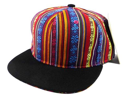 Exclusive Snapback Brim Pattern wholesale blank aztec snapback hats multicolored pattern black brim