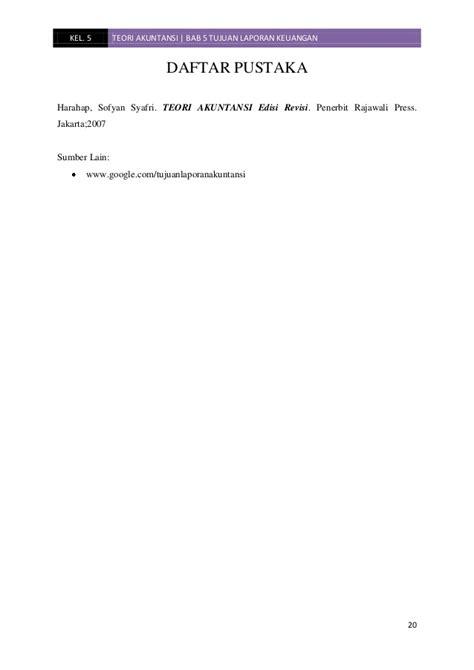 Ekonomi Teori Akuntansi Sofyan Syafri Harahap makalah teori akuntansi bab 5 tujuan laporan keuangan kel 5 jiantar