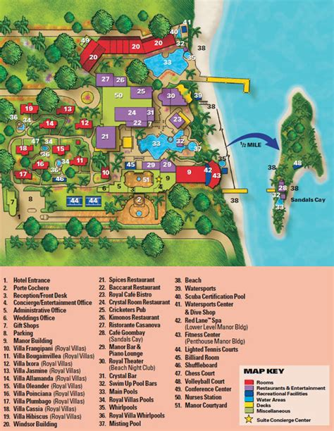 sandals montego bay map map layout sandals royal bahamian favorite places