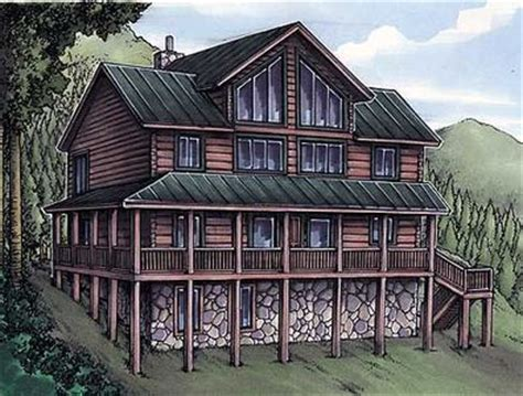 log siding house plans rustic house plan with log siding 24094bg architectural designs house plans