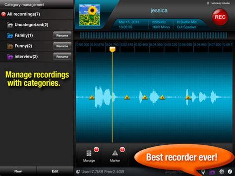 recorder  hd voice record audio editor screenshot