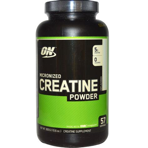 6 creatine monohydrate optimum nutrition micronized creatine powder unflavored