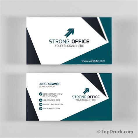 Visitenkarten Design Vorlagen Photoshop Bankkaufmann Visitenkarten Design Topdruck